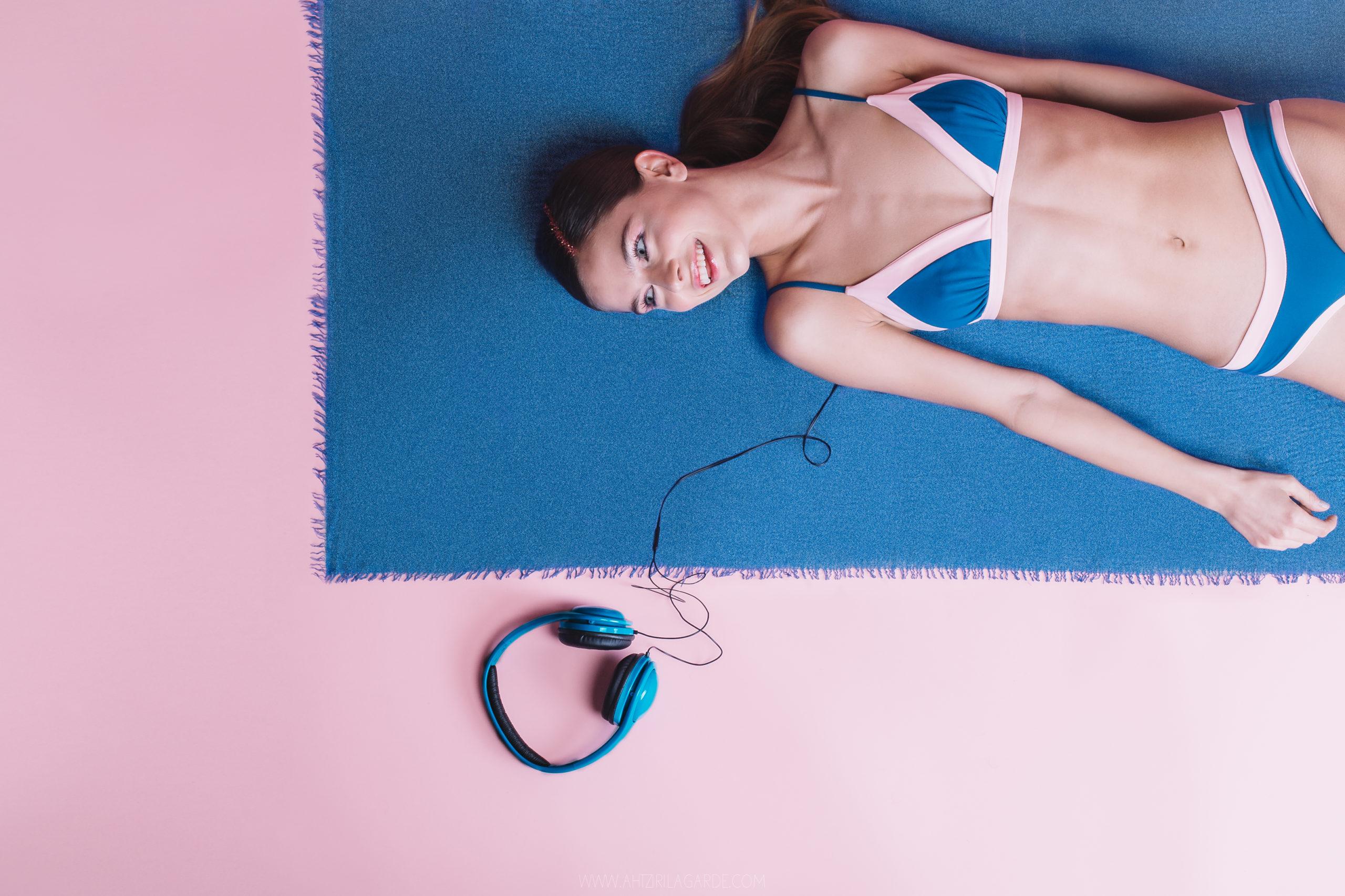 Model with Maafushi bikini