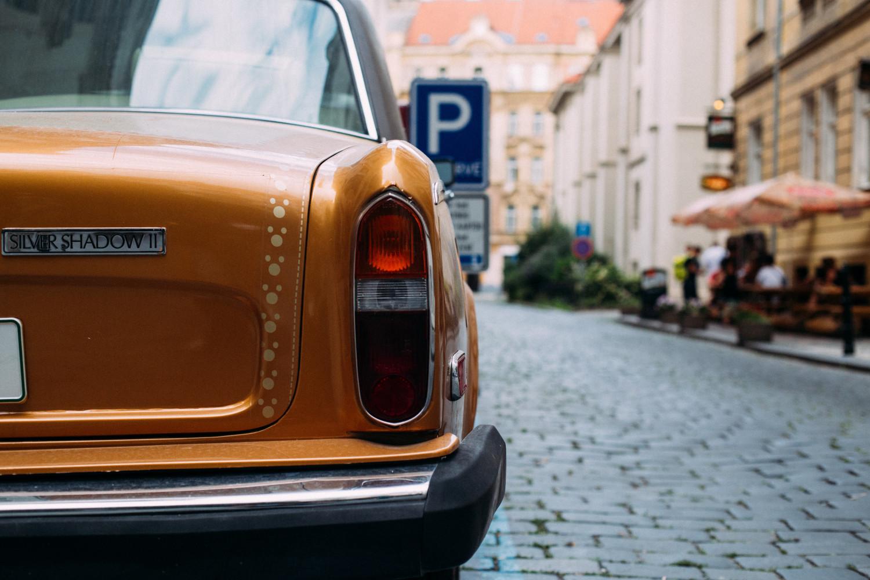 Old car in Prague