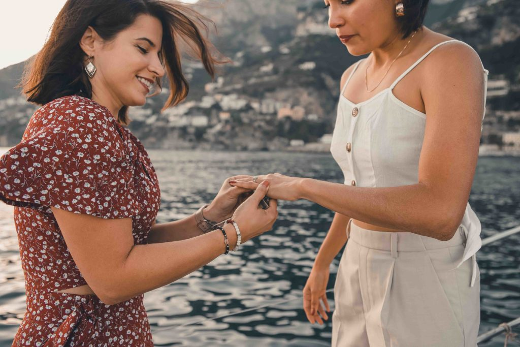 Wedding Proposal on a sailboat in Amalfi Coast