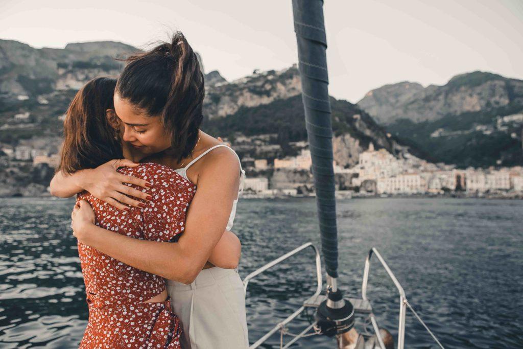 Wedding Proposal on a sailboat in Amalfi Coast