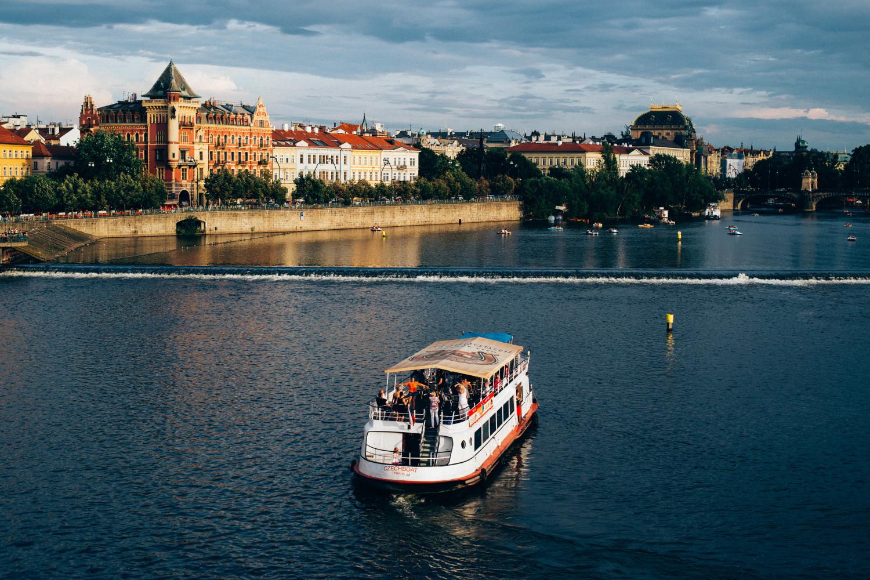Ship in Prague's River